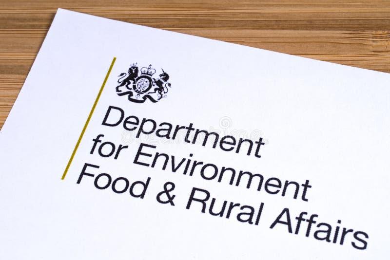 Departamento BRITÁNICO para la comida del ambiente y los asuntos rurales foto de archivo