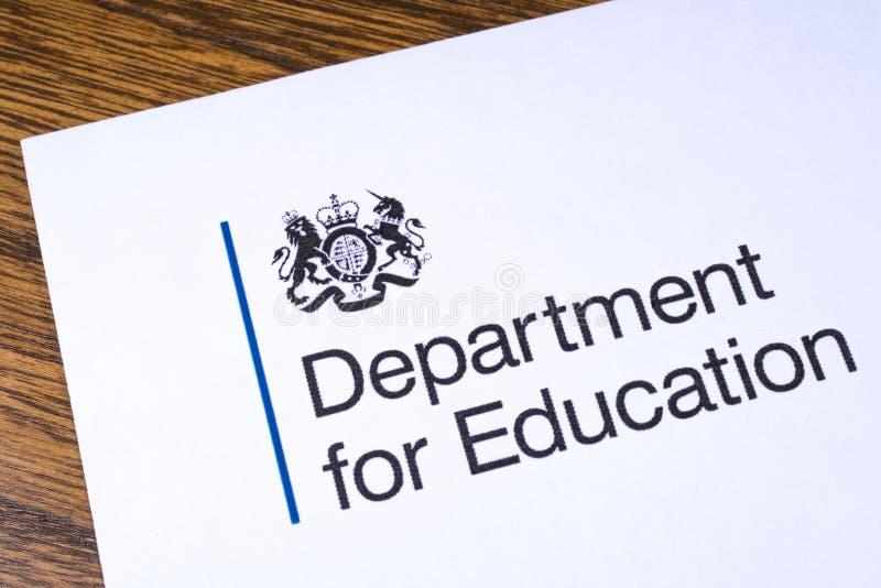 Departamento BRITÁNICO para la educación fotografía de archivo