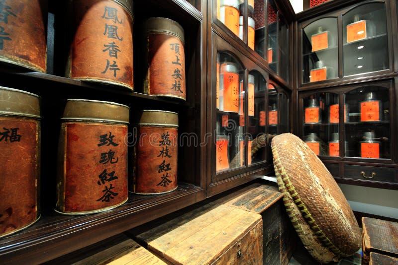 Departamento chino del té fotos de archivo libres de regalías
