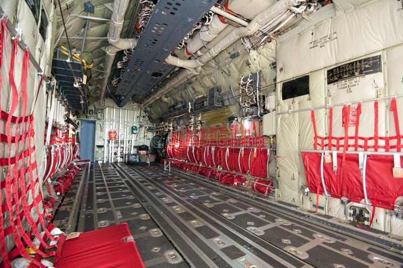 Departamento da carga do avião foto de stock