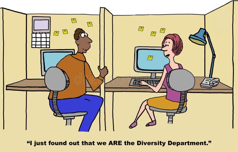 Departamento da diversidade ilustração do vetor