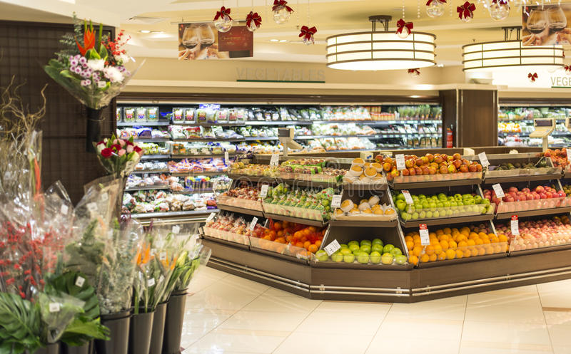 Departamento da fruta e verdura foto de stock