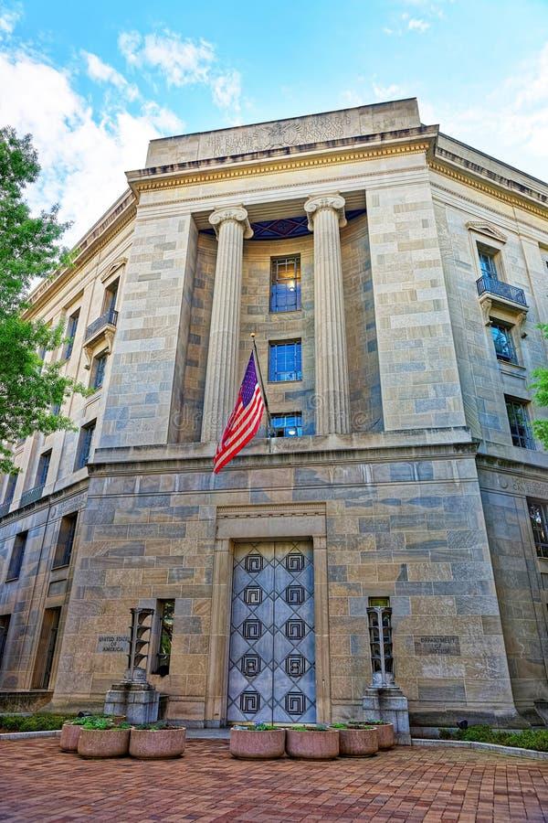 Departamento da Justiça no Washington DC EUA fotografia de stock royalty free