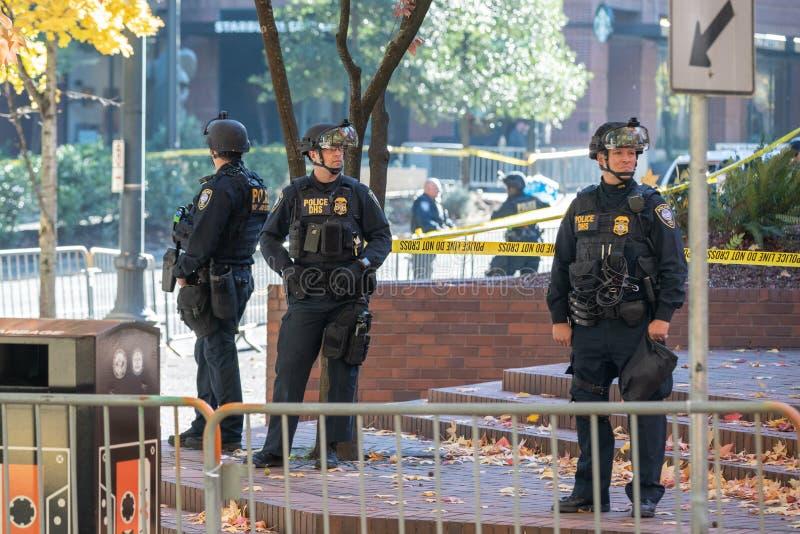 Departamento de agentes da polícia da segurança interna fotos de stock