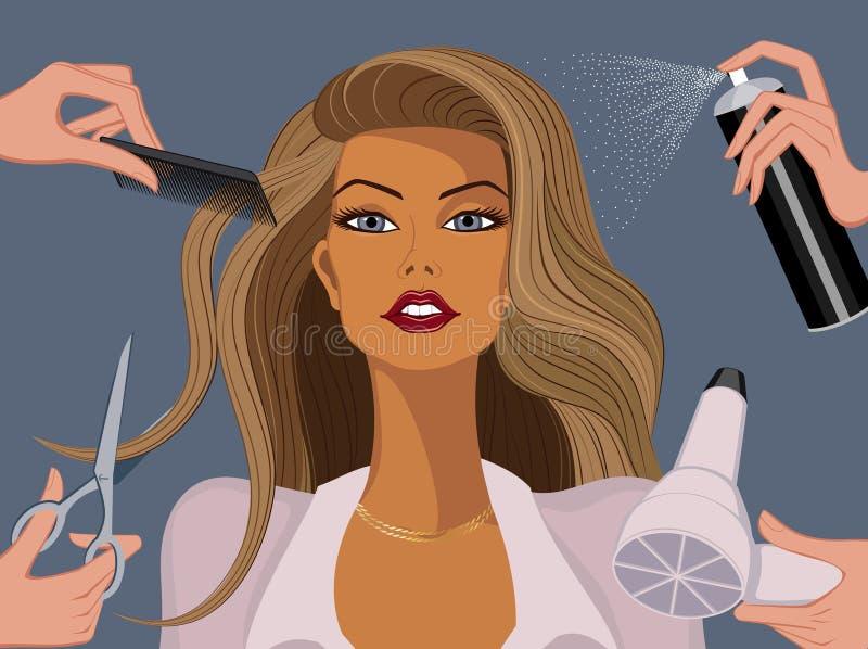 Departamento de belleza stock de ilustración
