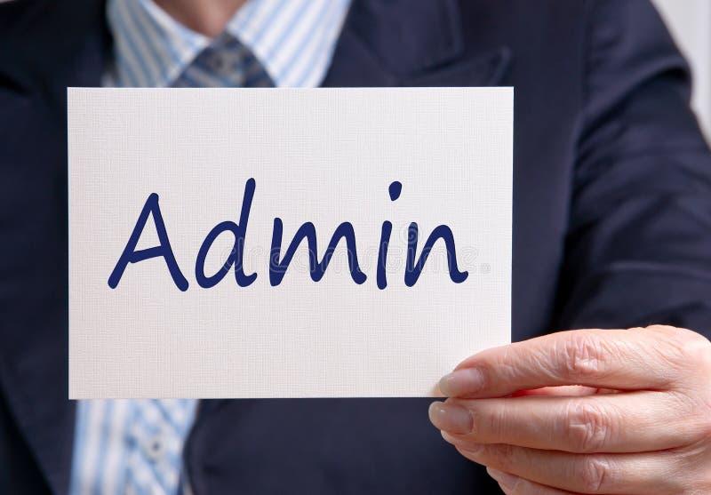 Departamento de la administración del Admin imágenes de archivo libres de regalías