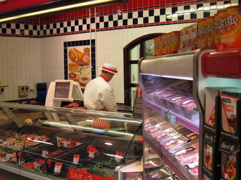 Departamento de la carnicería en un supermercado. fotografía de archivo libre de regalías
