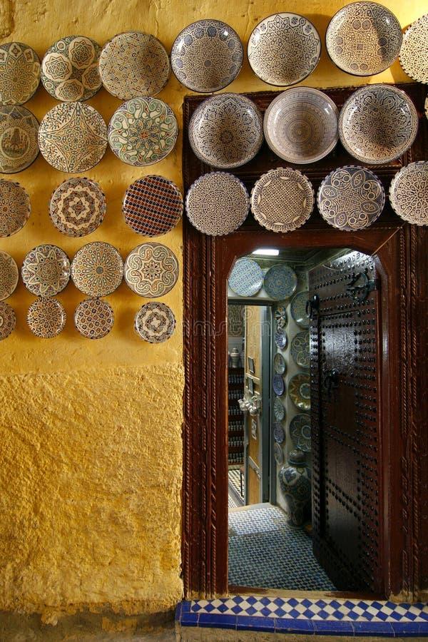 Departamento de la cerámica de Marruecos foto de archivo