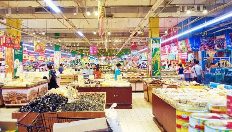 Departamento de la comida del supermercado fotos de archivo libres de regalías