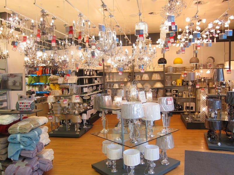 Departamento de la iluminación en una tienda. fotos de archivo