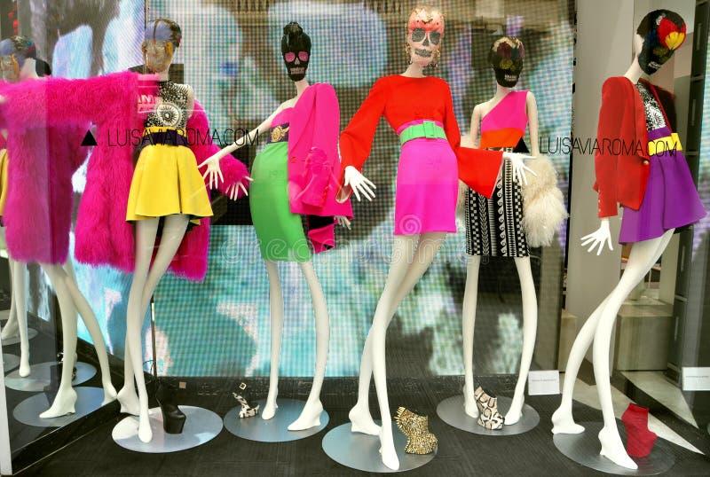 Departamento de lujo italiano de la manera en Florencia imagen de archivo