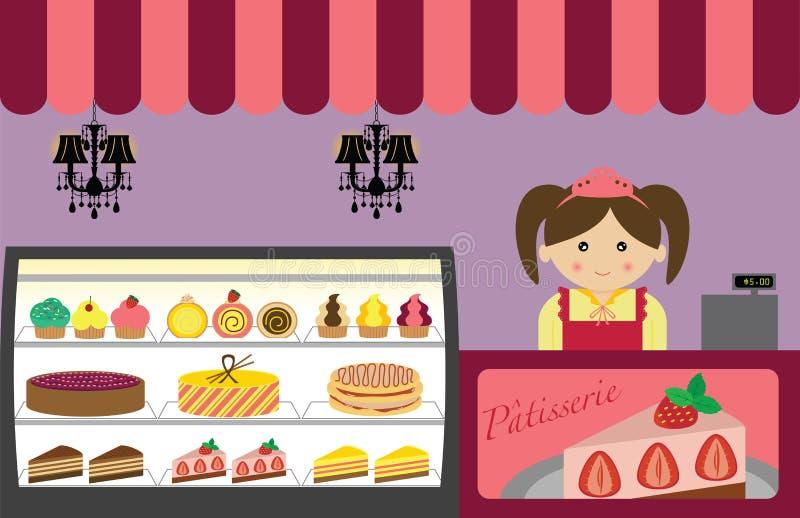Departamento de pasteles ilustración del vector