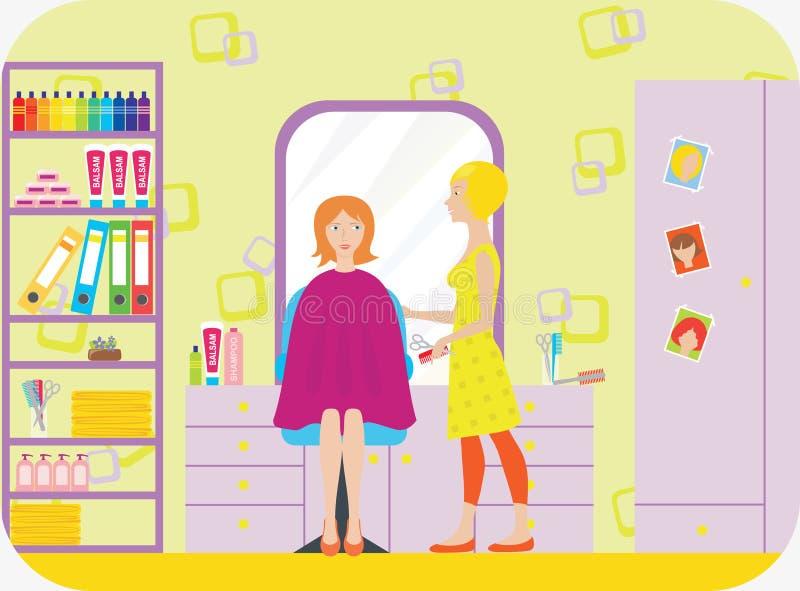 Departamento de peluquero stock de ilustración