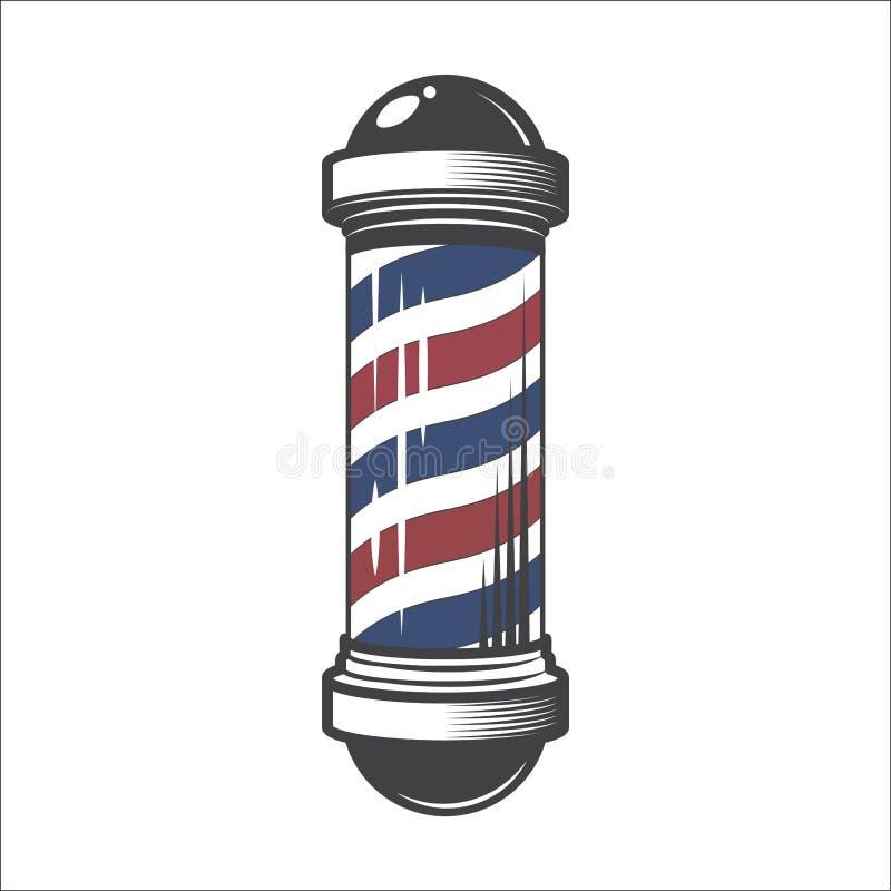 Departamento de peluquero poste stock de ilustración