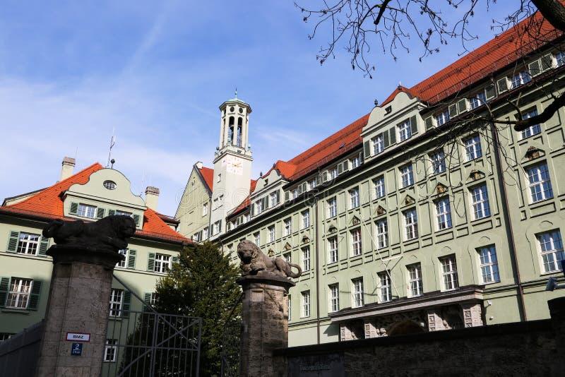 Departamento de Policía histórico en Munich fotos de archivo libres de regalías