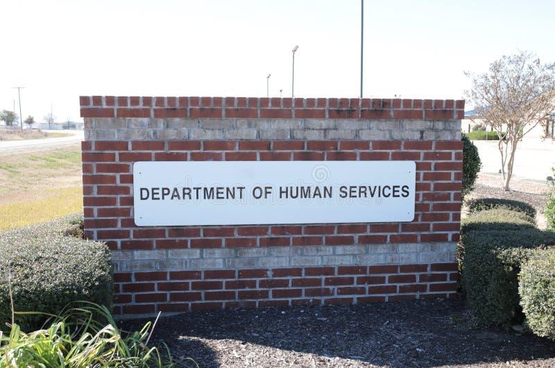 Departamento de servicios humanos fotografía de archivo libre de regalías