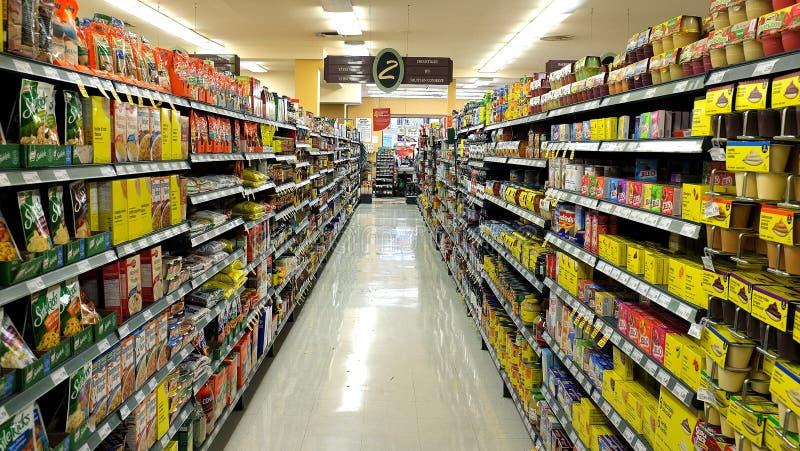 Departamento de tienda de comestibles fotografía de archivo