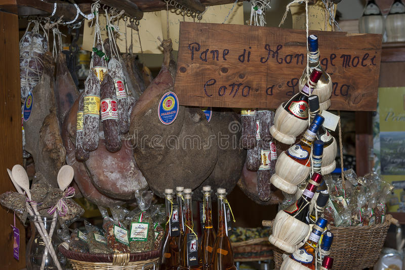 Departamento de tienda de comestibles en Italia imágenes de archivo libres de regalías