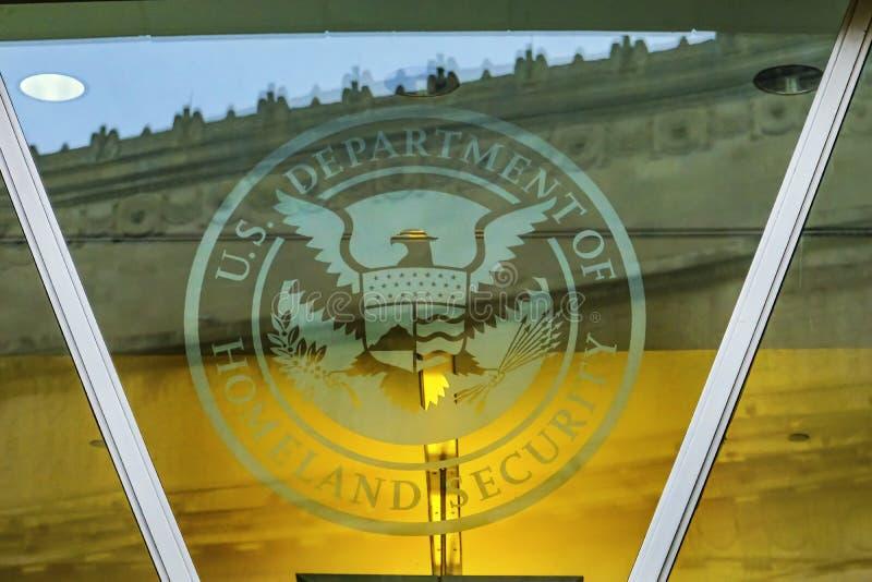 Departamento de Washington DC del símbolo de la seguridad de patria imagen de archivo