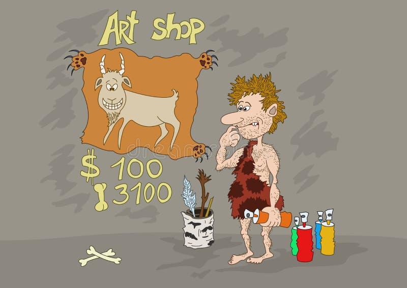Departamento del arte de la Edad de Piedra stock de ilustración