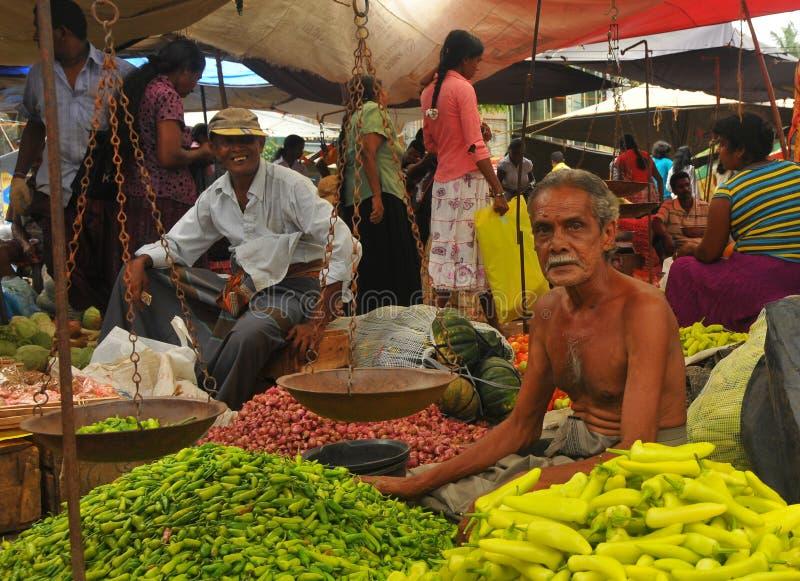 Departamento del chile - mercado de Tangalla (Sri Lanka) foto de archivo