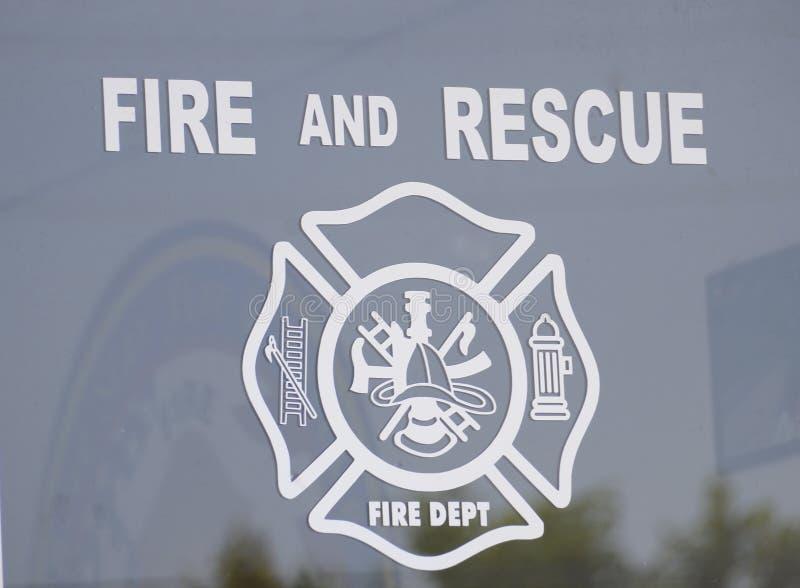 Departamento del fuego y del rescate imagen de archivo libre de regalías