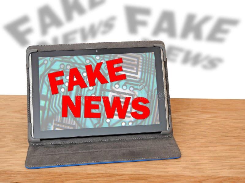 Departamento do escritório de meios noticiosos falsificados fotografia de stock