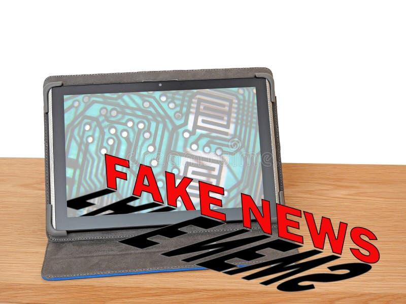 Departamento do escritório de meios noticiosos falsificados imagens de stock royalty free