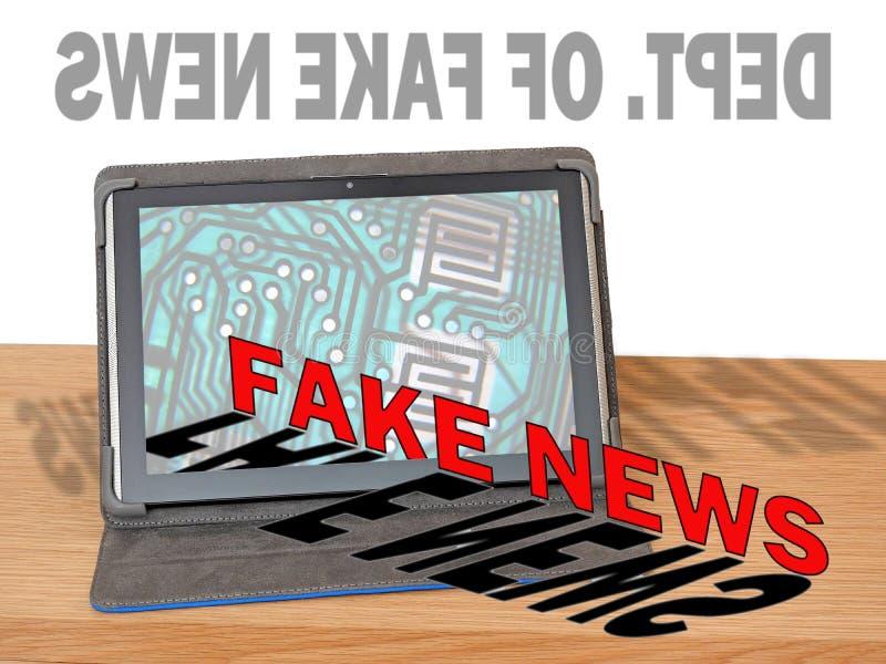 Departamento do escritório de meios noticiosos falsificados imagem de stock royalty free