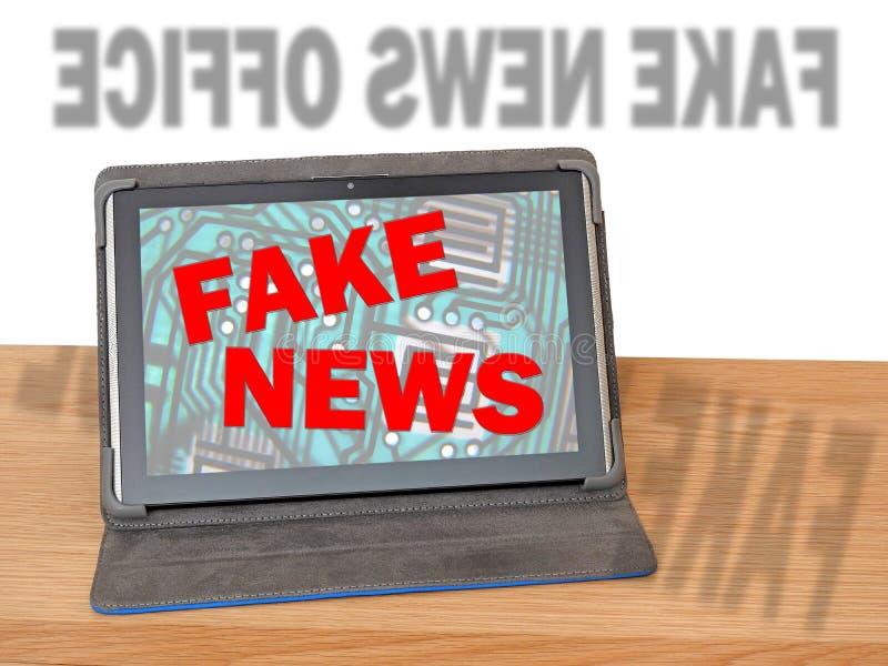 Departamento do escritório de meios noticiosos falsificados fotos de stock royalty free