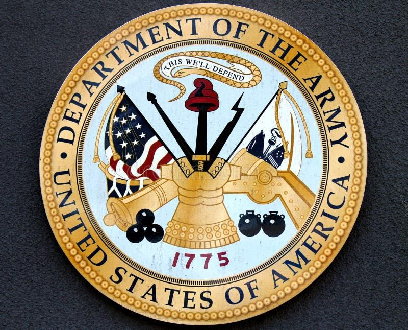 Departamento do exército EUA fotos de stock royalty free