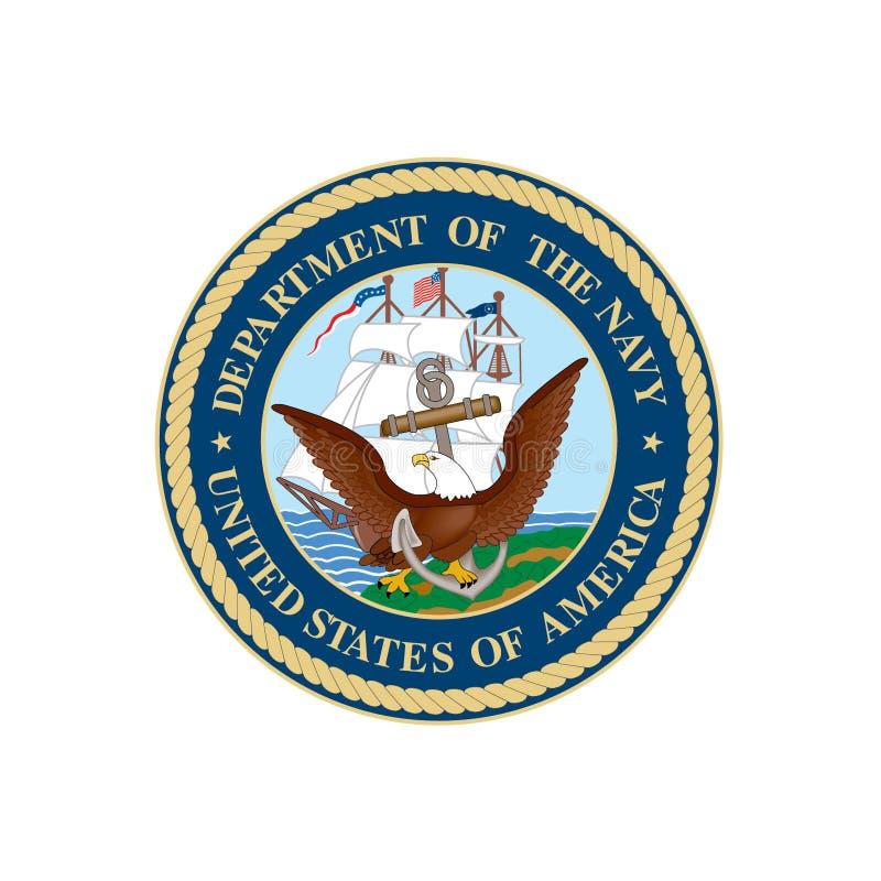 Departamento do selo Logo Vetora da marinha ilustração royalty free