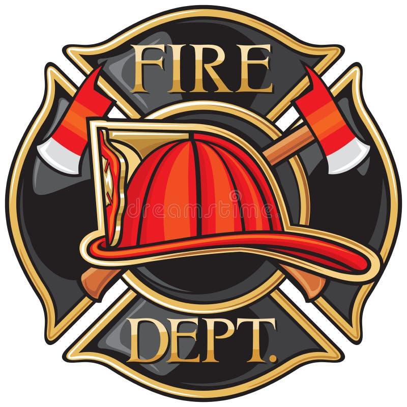 Departamento dos bombeiros ilustração royalty free