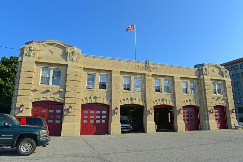 Departamento dos bombeiros em Portland, MIM de Portland, EUA foto de stock