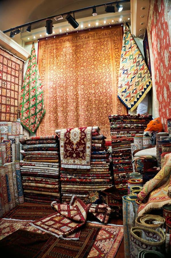 Departamento turco de la alfombra imagen de archivo