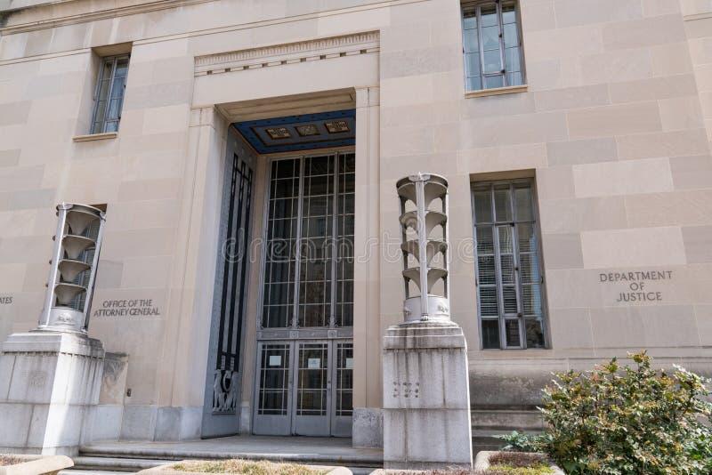Departamentu Sprawiedliwości budynku powierzchowność obrazy stock