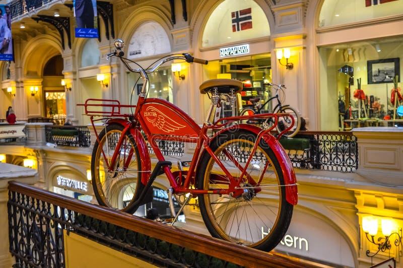 Departamentu Stanu sklep z czerwonym rowerem (dziąsło) obrazy royalty free