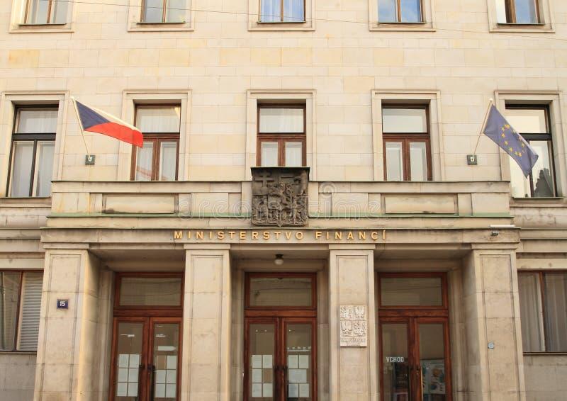 Departement av finans av Tjeckien royaltyfri fotografi
