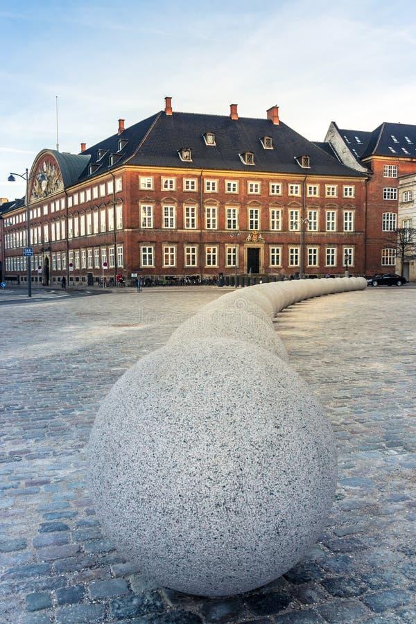 Departement av finans av Köpenhamnen arkivbild