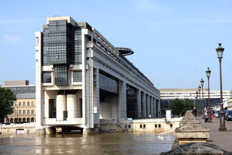 Departement av finans Paris Frankrike royaltyfria foton