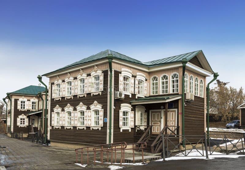 Departement av kultur och arkiv av den Irkutsk regionen, en monument av historia och kultur irkutsk fotografering för bildbyråer