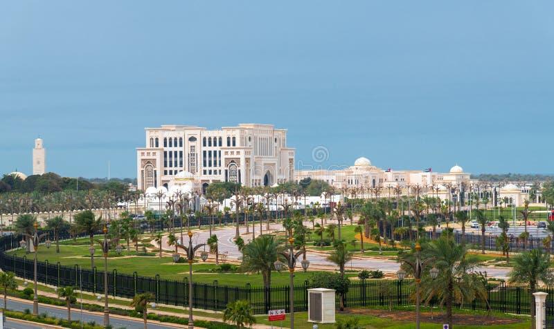 Departement av presidents- angelägenheter i Abu Dhabi, UAE royaltyfri foto