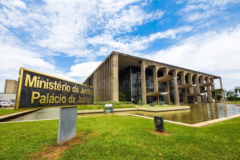 Departement av rättvisa Building i Brasilia, Brasilien royaltyfri foto