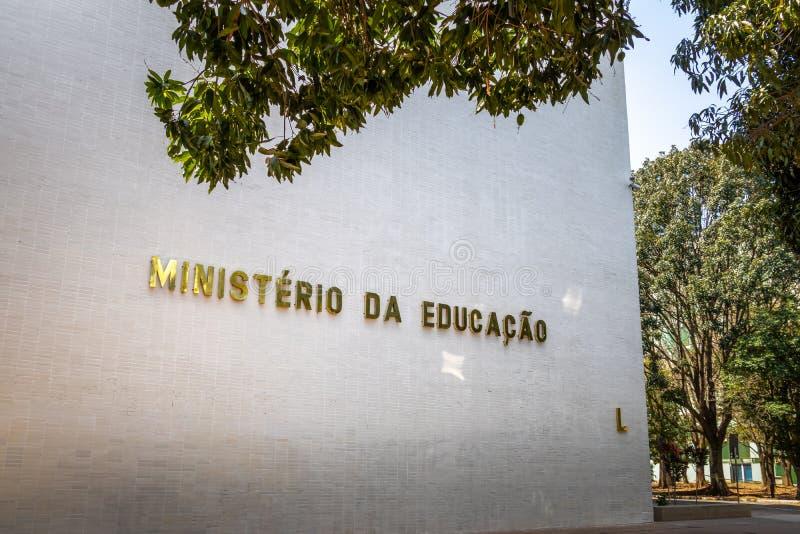 Departement av utbildning - Brasilia, federala Distrito, Brasilien arkivfoton