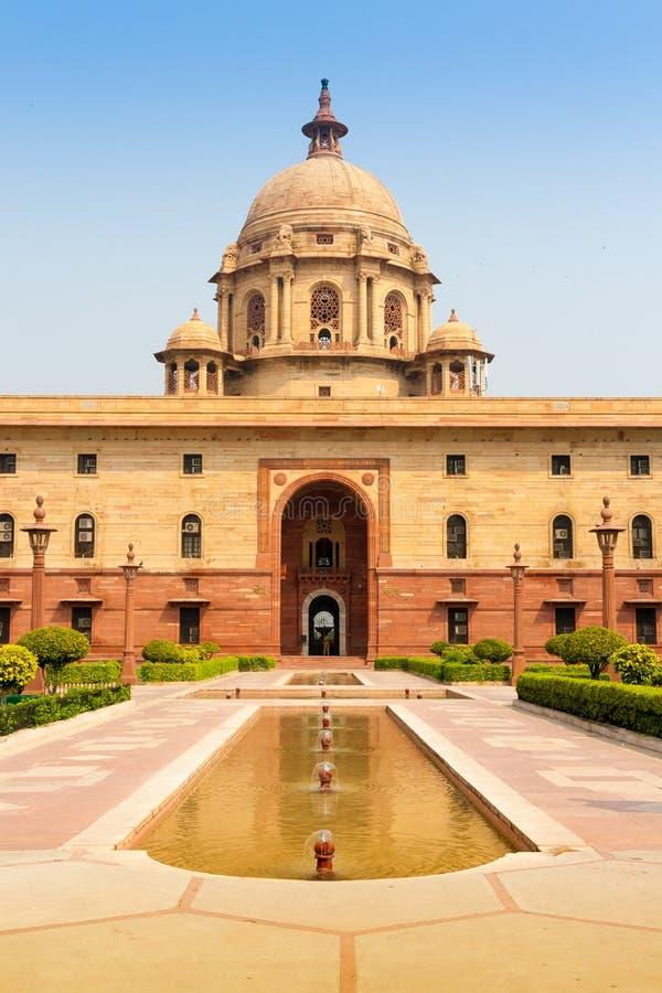 Departement nära Rashtrapati Bhavan i New Delhi, Indien arkivfoto