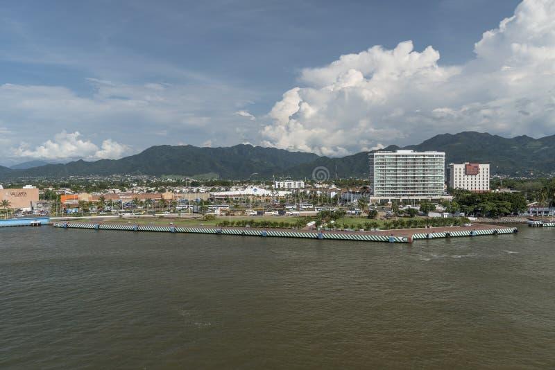 Departing Puerto Vallarta on Island Princess royalty free stock photos