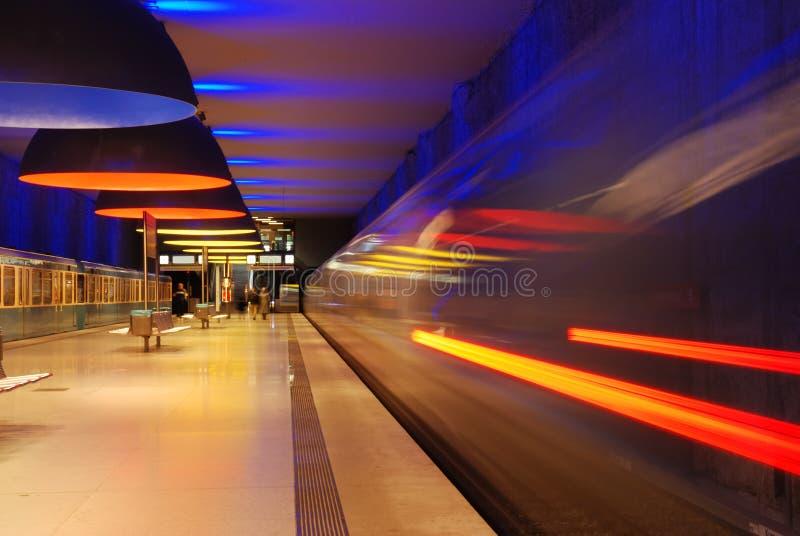 Departing subway royalty free stock images