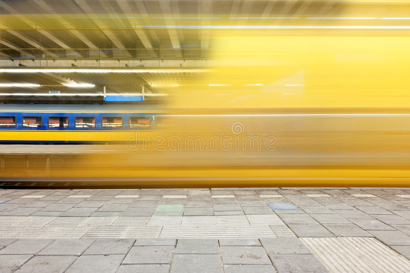 Departing train stock photos