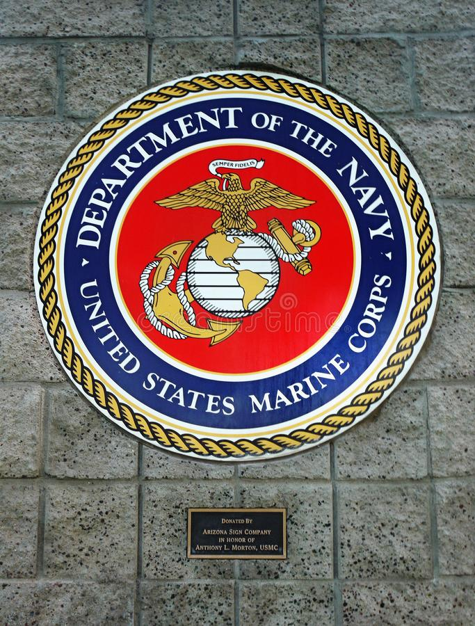 Department Of The Navy United States Marine Corps Emblem Editorial