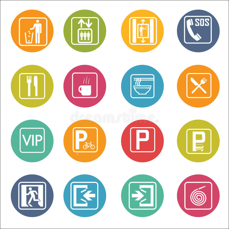 Department. sign icon Vector Illustration. set. vector illustration